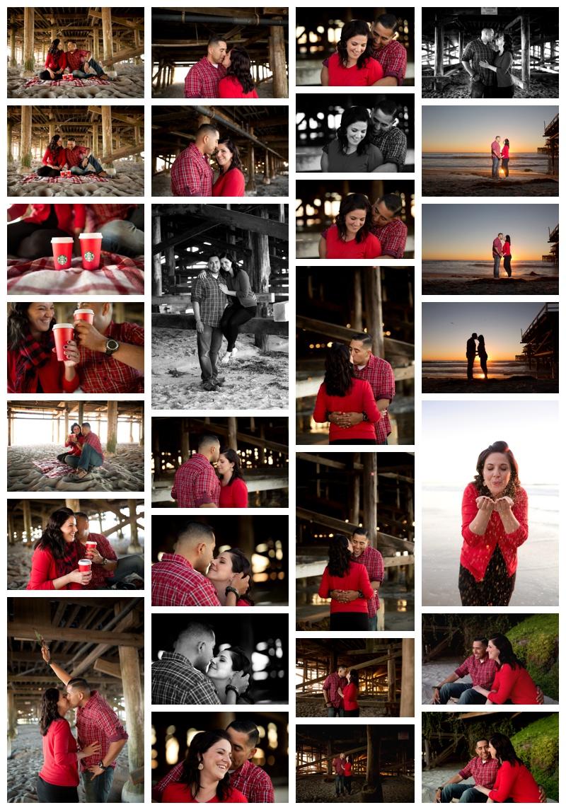 Christmas Photos on beach by pier