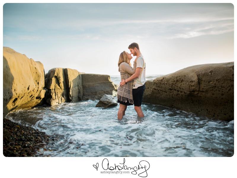 Engagement Beach Photo