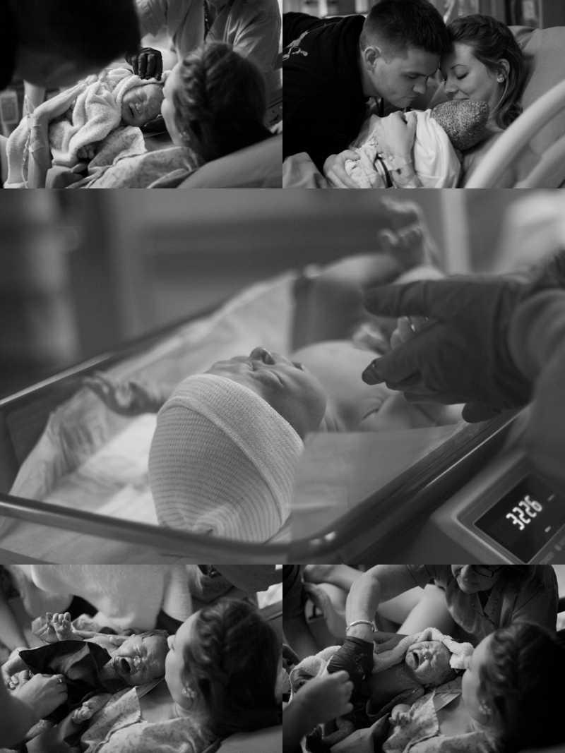 birth photos in hospital room