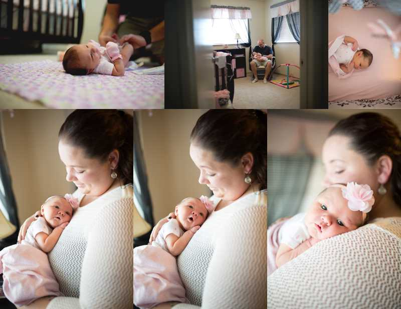 newborn photos in home
