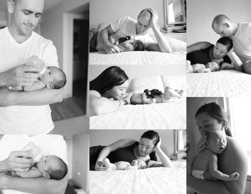 In Home Lifestyle Newborn Photos
