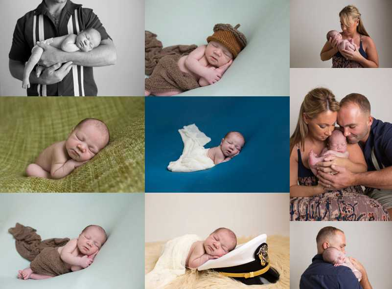 Posed Newborn Photos on Blanket Backdrop