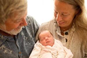 grandparents and newborn baby