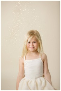 little girl gold glitter